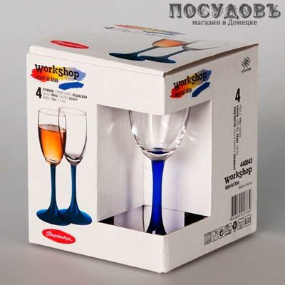 """Рюмка Pasabahce """"Imperial Blue"""" 60 мл, стекло, в упаковке 4 шт"""
