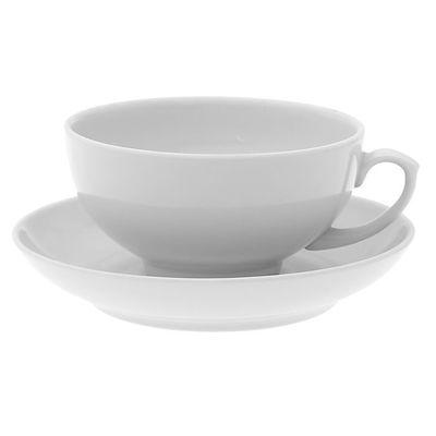 Чайная чашка с блюдцем Дулевский фарфор 1432 220 мл 1 к-кт