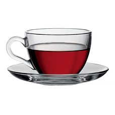 """Pasabahce """"Basic"""" 97948 набор чайный, цвет прозрачный, 238 мл, стекло термостойкое, в упаковке, Россия 12 предметов"""