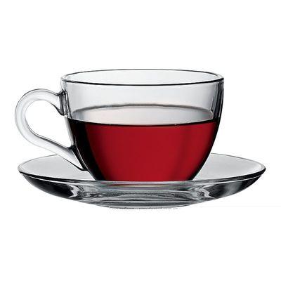 Чайный набор Pasabahce Basic 97948 чашка 215 мл и блюдце 137 мм 12 пр