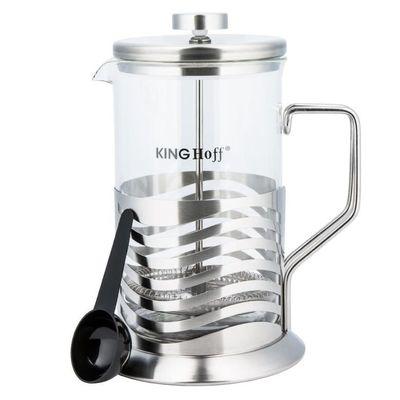 KING Hoff KH-4835 френч-пресс, стекло закаленное, 800 мл, Польша, 2 предмета