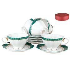 Коралл Изумруд V12-green чайный набор 12 предметов