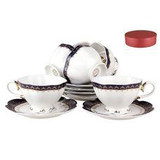Коралл Кобальт V12-dark-blue чайный набор 12 предметов
