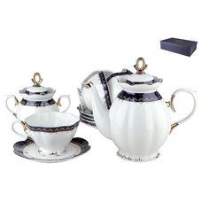 Коралл Кобальт V14-dark-blue чайный сервиз 14 предметов