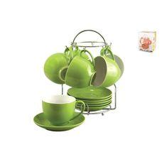 Коралл Зеленый лайм TS012-GR чайный набор 12 предметов