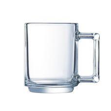 """Luminarc """"A La Bonne Heure"""" L3566 кружка, цвет прозрачный, 250 мл, стекло упрочненное, без упаковки, Франция 1 шт"""