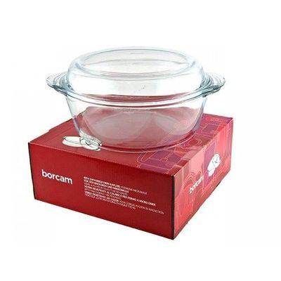 Borcam 59013 кастрюля стекло жаропрочное 3,15 л, мм, с крышкой-формой