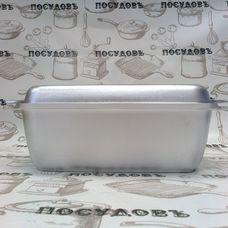 Литая алюминиевая гусятница Kukmara г45 4,5 л с литой алюминиевой крышкой-сковородой