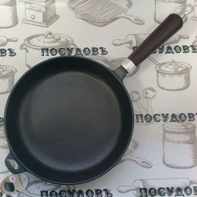 Литая чугунная сковорода KING Hoff KH-1118 24 см