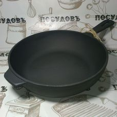 Литая чугунная сковорода Maysternya T202 24 см