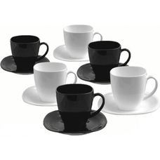 Luminarc Carine Black and White D2371 чайный набор 12 предметов
