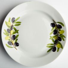 Обеденная тарелка Дулевский фарфор 68802 Оливки 24 см 1 шт