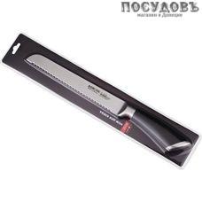 Agness 911-019 нож для хлеба, лезвие: сталь нержавеющая 200×2 мм рукоятка из нержавеющей стали, Китай, в упаковке 1 шт.