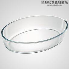 Забава РК-0010 овальная форма для запекания, стекло жаропрочное, 300×223×70 мм, 2500 мл