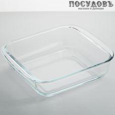 Забава РК-0052 форма для запекания, стекло жаропрочное, 206×181×50 мм, 1300 мл