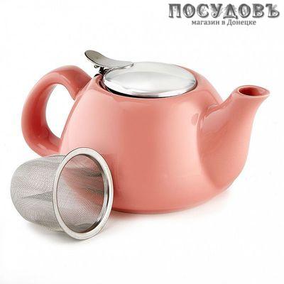 Rosario Ф19-014R чайник заварочный с фильтром, керамика, 700 мл розовый