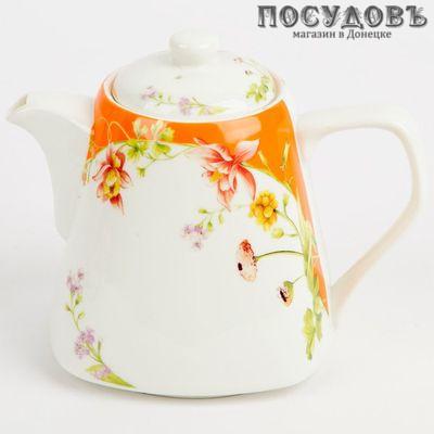 Rosario Ф2-009R чайник заварочный, фарфор, 900 мл белый с рисунком