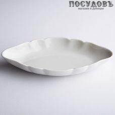 Добрушский фарфор Белье 1С0108Ф34 шпротница, фарфор, цвет белый, 170 мм, Беларусь, без упаковки 1 шт.