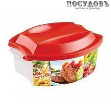 Бытпласт 433118804 контейнер с крышкой, полипропилен, 1900 мл, красный