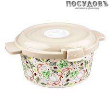 Phibo 431107107 емкость для холодильника и свч с крышкой, полипропилен, 190×223×102 мм, 1600 мл