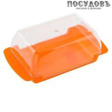 Полимербыт 23800 масленка с крышкой, цвет оранжевый, 170×90×63 мм, полипропилен