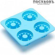 Mayer and Boch 26120-1, квадратная форма для выпечки кексов, 4 формочки, силикон, 110×110 мм, Россия, без упаковки 1 шт