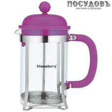 Klausberg KB-7080 фиолетовый, френч-пресс, 800 мл, стекло термостойкое, корпус из нержавеющей стали в упаковке 1 шт