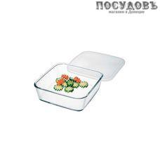 Simax 7486/L, квадратная форма для выпечки, жаропрочное стекло, 150×150×45 мм, 500 мл, Чехия, без упаковки 2 предмета