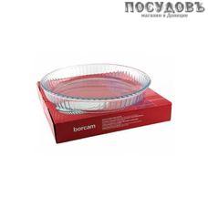 Borcam 59014, круглая форма для выпечки, жаропрочное стекло, Ø320×50 мм, 2 950 мл, Турция, в упаковке 1 шт