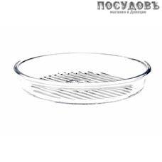 Borcam 59534, круглая форма-гриль, жаропрочное стекло, Ø260×45 мм, 1 700 мл, Турция, в упаковке 1 шт