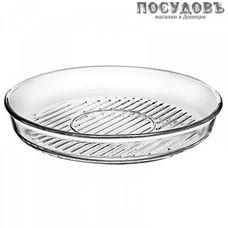 Borcam 59544, круглая форма-гриль, жаропрочное стекло, Ø320×45 мм, 2 900 мл, Турция, в упаковке 1 шт
