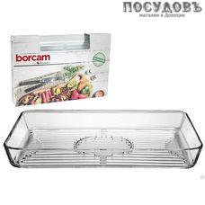 Borcam 59554/1073140, прямоугольная форма-гриль, жаропрочное стекло, 400×270×50 мм, 3 800 мл, Турция, в упаковке 1 шт