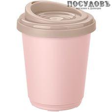 Бытпласт 433250318 термостакан с крышкой, 300 мл, полипропилен, розовый, голубой 2 пр.
