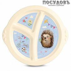 Бытпласт 431315607 тарелка детская, полипропилен, цвет бежевый