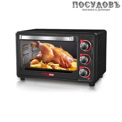 Centek CT-1537-30 BLACK электрическая печь отдельностоящая 1600 Вт 30 л, без конфорок, черная