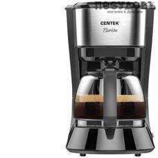 Centek CT-1146 кофеварка капельная, 800 Вт, 1250 мл, цвет черный