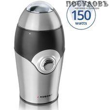 Aurora AU146 кофемолка электрическая, 150 Вт, чаша из нержавеющей стали 75 г, цвет черный со стальным