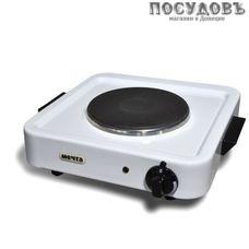 Мечта 111Ч плита электрическая, 1-конфорочная, 1000 Вт, эмалированное покрытие, цвет белый