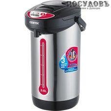 Centek CT-0080 Black термопот 3,0 л, 600 Вт, корпус: сталь нержавеющая, цвет черный