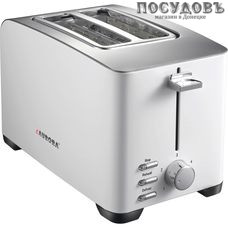 Aurora AU 3321 тостер на 2 шт, 850 Вт, цвет металлик