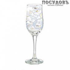 ПТТ Ветка 44160/210*6, бокал для шампанского 200 мл, материал стекло, Россия, в упаковке 6 шт.