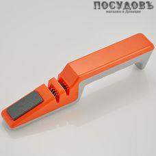 Webber ВЕ-5287, точило для ножей, 190 мм, цвет оранжевый с серым, Россия, на блистере 1 шт.