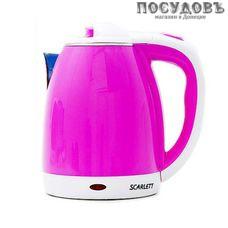 Scarlett SC-2020 Pink электрочайник 2000 Вт, 2000 мл, корпус: двойной нержавейка/пластик, Китай, гарантия 1 год