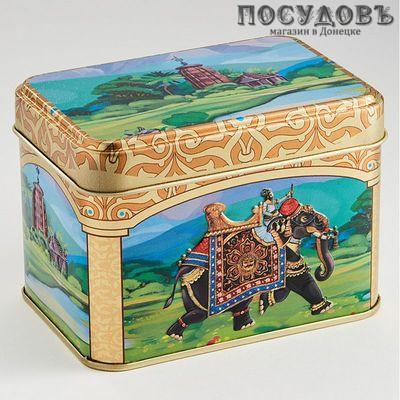РФЖУ Индийский слон 2 040-01571 банка для хранения с крышкой, жесть, 400 мл