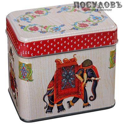РФЖУ Индийский слон 060-01119 банка для хранения с крышкой, жесть, 600 мл