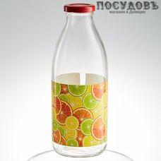 """Атес """"Сочный цитрус"""" 123-13003, бутылка с крышкой объемом 750 мл, материал стекло, Россия, без упаковки 1 шт"""