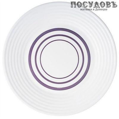 Luminarc Harena Purple N0665 тарелка глубокая, стекло упрочненное, Ø230 мм, Франция 1 шт.