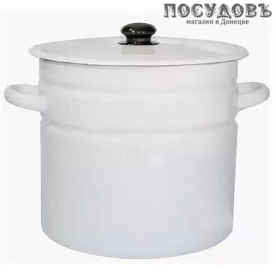 КМК 41804-242/6-У2 кастрюля с крышкой, белый, сталь эмалированная, 12,0 л