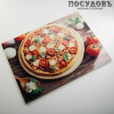 "Alparaisa ""Пицца"" AK-9010 доска разделочная, материал стекло закаленное, 300×400×4 мм 1 шт"