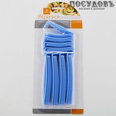 Alpenkok АК-0208 зажим для пакетов, полипропилен, 120×15, 70×15 мм, 8 шт.
